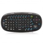Handheld Rechargeable 2.4GHz Wireless Keyboard for PC / Smart TV / Smartphone - Black
