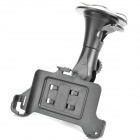 Car Suction Cup Mount Holder + Car Powered Charger for Motorola Droid Razr XT910 - Black (85cm)