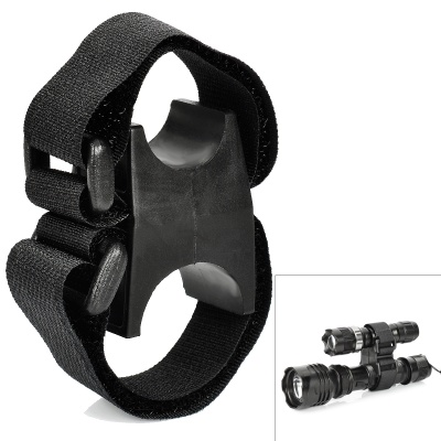 Universal Nylon Mount for Flashlights and Lasers - Black