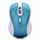 2.4GHz 1600DPI Wireless Mouse with USB Receiver - Blue + White (1 x AA)