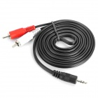 3.5mm Male to 2 RCA Male AV Adapter Cable (192CM-Length)