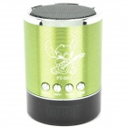 PT-H01 Mini USB Rechargeable Music Speaker w USB/TF Card/FM - Green