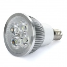 E14 4W 6400K 360-Lumen 4-LED White Light Bulb (AC 85~265V)