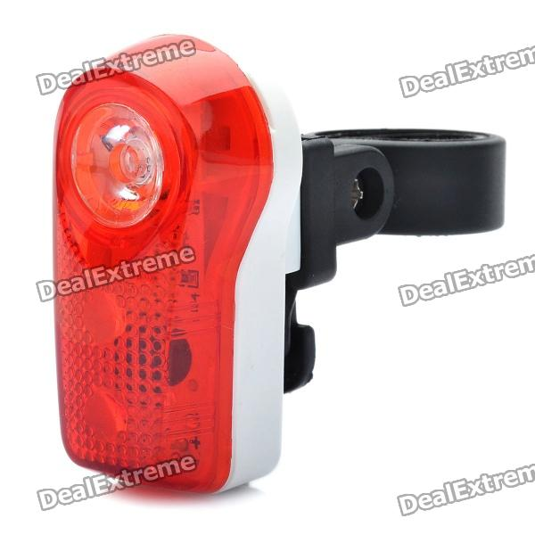 Bicycle Bike 2-Mode 3-LED Red Light Tail Warning Safety Light - Red + White (2 x AAA)
