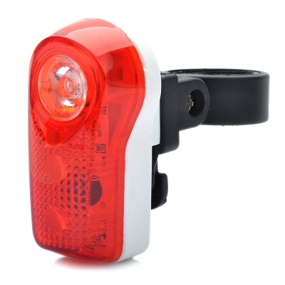 Bicycle 2-Mode 3-LED Red Light Tail Warning Safety Light - Red + White