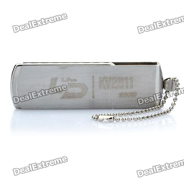 LD V06 USB 2.0 Flash Drive with Jiangmin Antivirus Software / Keychain Strap - Silver (16GB)