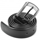 Stylish Cow Leather Men's Belt w/ Zinc Alloy Buckle - Black (120CM-Length)