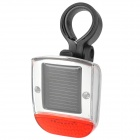 Water Resistant Solar Powered 2-LED 3-Mode Bike Bicycle Safety Tail Light