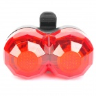 Bicycle Bike 4-Mode 2-LED Red Light Tail Warning Safety Light - Red + Black (2 x AAA)