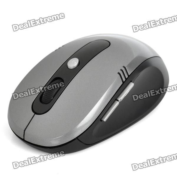 FREER 2.4GHz 1000 / 1600DPI Wireless Optical Mouse - Grey (2 x AAA)