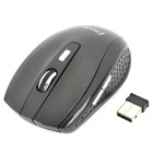 FREER 2.4GHz 1000 / 1600DPI Wireless Optical Mouse - Black (2 x AAA)