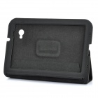 Protective PU Leather Case for Samsung Galaxy Tab P6200 - Black