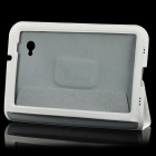 Protective PU Leather Case for Samsung Galaxy Tab P6200 - White