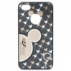 Stylish Mickey Pattern Protective PC Back Case for iPhone 4 / 4S - Black