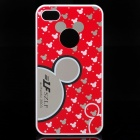 Stylish Mickey Pattern Protective PC Back Case for iPhone 4 / 4S - Red