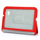 Protective PU Leather Case for Samsung Galaxy Tab P6200 - Red