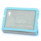Protective PU Leather Case for Samsung Galaxy Tab P6200 - Blue