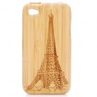 Eiffel Tower Pattern Protective Bamboo Back Case for iPhone 4 / 4s