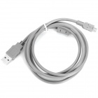 USB Extension Cable for Cell Phone / Computer / Game Console + More - Grey (1.5M-Length)