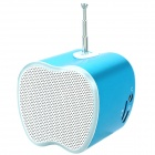 Mini USB Rechargeable Music Speaker w USB/TF Card/FM - Blue