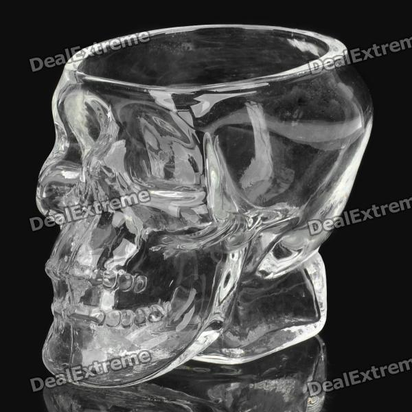 Creative Cool Skull designed Vodka Whiskey Shot Glass - Transparent (70ml)