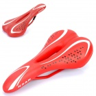 Replacement Leather Covering Mountain / Road Cycling Saddle - Red