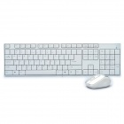 2.4GHz Wireless 104-Key Keyboard + Wireless Mouse Set - White (1 x AA / 2 x AAA)