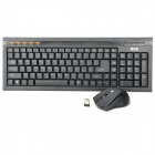 2.4GHz Wireless 109-Key Keyboard + Wireless Mouse Set - Black (2 x AAA / 1 x AA)