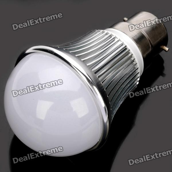 B22 6W 6500K 540-Lumen 12-LED White Light Bulb (AC 85~265V) e27 6w 6 led 540 lumen 6000k white light bulb 85 265v ac