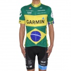Brazilian Team Garmin Short Sleeves Bicycle Cycling Suit Jersey + Shorts Set (Size XXL / 180~188cm)