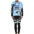 2011 Saxo Bank Team Long Sleeves Bicycle Cycling Suit Jersey + Pants Set (Size-XL / 175~185cm)