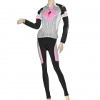 2011 Team Edition Long Sleeves Bicycle Riding Suit Jersey + Pants Set for Women (Size-L)
