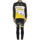 2011 Livestrong Team Long Sleeves Bicycle Cycling Suit Jersey + Pants Set (Size-XL / 175~185cm)
