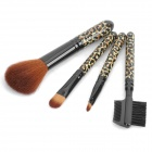 Elegant Leopard 5pcs Cosmetic Make-up Brushes Set