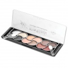 Fashion Cosmetic Makeup 12-Color Eye Shadow Kit with Brushes