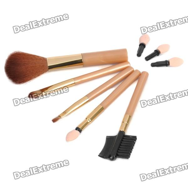 Elegant 5-Piece Cosmetic Make-up Brushes Set hot sale 2016 soft beauty woolen 24 pcs cosmetic kit makeup brush set tools make up make up brush with case drop shipping 31