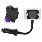 "Steering Wheel Mount Bluetooth Car Kit + 1.5"" LCD MP3 Player Transmitter Set - Silver"