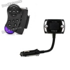 "Steering Wheel Mount Bluetooth Car Kit + 1.5"" LCD MP3 Player Transmitter Set - Black"