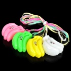 Cute Flashing Red / Blue / Yellow LED Banana Style Necklace (3 x L1131 / 4-Pack)