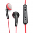 Kanen IP-509 Fashion Stereo Earphone with Microphone for iPhone - Black + Red