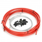 Bicycle Bike Brake Shifter Cable Wires & Housing Set - Red