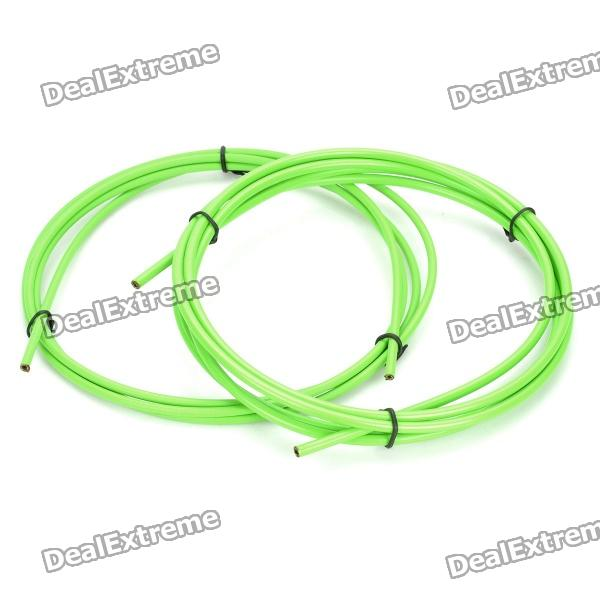Bicycle Bike Brake Shifter Cable Wires & Housing Set - Green 1pc sfu2010 ballscrew length 500mm with ballnut according to bk15 bf15 end machined nut housing bk15 bf15 support