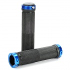 Cycling Grips Bicycle Bar End Handlebar - Pair (Blue)