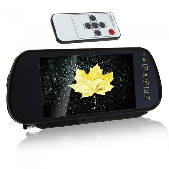 "Universal 7.0"" LCD Rearview Mirror Monitor w/ Remote Controller (DC 12V)"