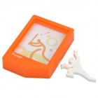 RIKISHI Creative Stylish Plastic Photo Frame with Stand - Random Color (12 x 9.5cm)