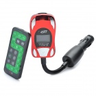 "1,0 ""LCD Auto MP3-Player FM Transmitter w / TF / SD / USB - Schwarz + Rot"