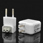 Designer's USB Power Charger w/ EU / US Plug Adapters for iPad / iPhone - White (AC 100~240V)