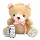 Cute Plush Bear Doll Style USB Powered MP3 Player Music Speaker with SD Slot
