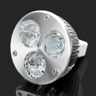 GU5.3 3W 3-LED Slots Aluminum Spotlight Bulb Accessories Shell - Silver