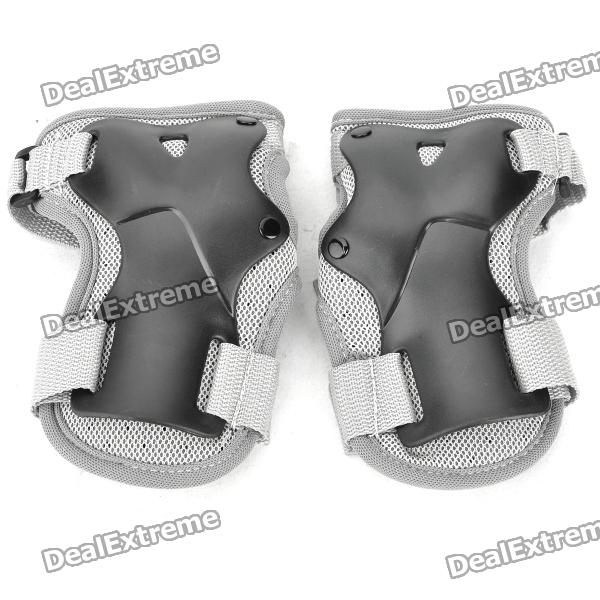 Snowboard Ski Hand Wrist Guard Protectors - Black + Grey (Size-L / Pair) 5pcs in 1 outdoor sports protection skiing hip pad knee pads wrist support palm for roller skating snowboard protection black